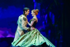 Austin Colby (Hans) and Caroline Innerbichler (Anna) in Frozen North American Tour - photo by Deen van Meer