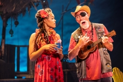"Rachel Lyn Fobbs as Marley and Patrick Cogan as J.D. in Jimmy Buffett's ""Escape to Margaritaville"" (Photo: Matthew Murphy)"