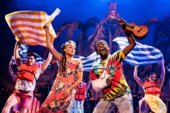 "Rachel Lyn Fobbsy, Matthew James Sherrod in Jimmy Buffett's ""Escape to Margaritaville"" (Photo: Matthew Murphy)"