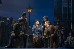 Shavey Brown, Mark Aldrich, Shereen Ahmed (center), William Michals and Colin Anderson in The Lincoln Center Theater Production of Lerner & Loewe's MY FAIR LADY Photo: Joan Marcus