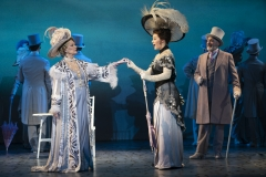 Leslie Alexander as Mrs. Higgins, Shereen Ahmed as Eliza Doolittle and Kevin Pariseau as Colonel Pickering in The Lincoln Center Theater Production of Lerner & Loewe's MY FAIR LADY Photo: Joan Marcus