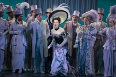 Sam Simahk as Freddy Eynsford-Hill, Shereen Ahmed as Eliza Doolittle, Kevin Pariseau as Colonel Pickering and Leslie Alexander as Mrs. Higgins in The Lincoln Center Theater Production of Lerner & Loewe's MY FAIR LADY Photo: Joan Marcus