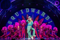 Cody Cooley as Squidward Q. Tentacles and The Company of The SpongeBob Musical Photo by Jeremy Daniel