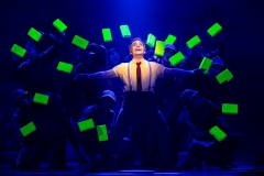 Lorenzo Pugliese as SpongeBob SquarePants and The Company of The SpongeBob Musical Photo by Jeremy Daniel