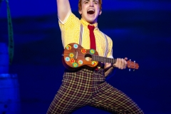 Lorenzo Pugliese as SpongeBob SquarePants in The SpongeBob Musical Photo by Jeremy Daniel